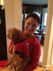 Lori and Chewie before Ella's 5K Run
