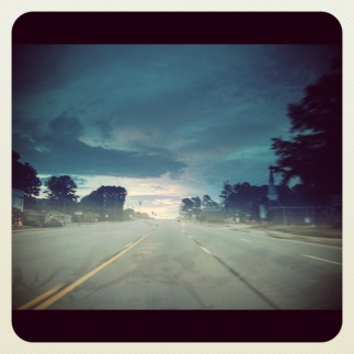The open road in the morning